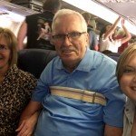Linda, Ashley & me on the airplane